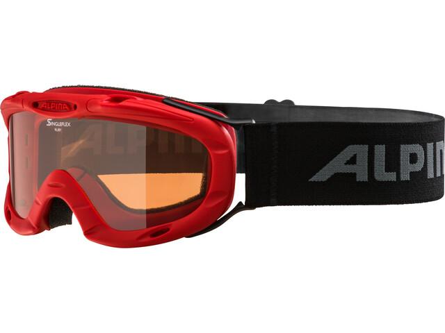 Alpina Ruby S Singleflex Hicon S1 Gafas Niños, red